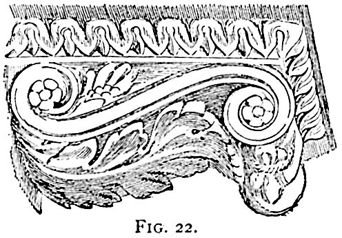 history of decorative moulding molding Five Orders of Architecture moldings modillion forms part of bedmould of cornice